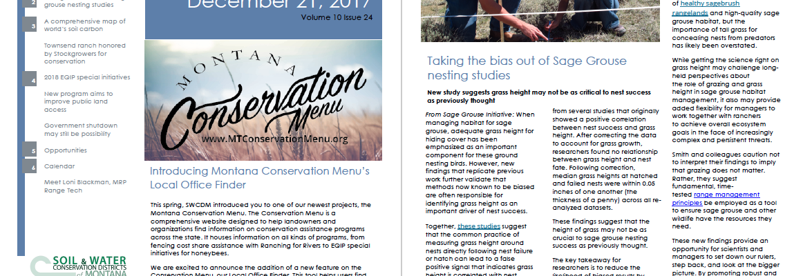 The Montana Conservationist Ruby Valley Conservation District Page 2