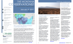 The Montana Conservationist January 9