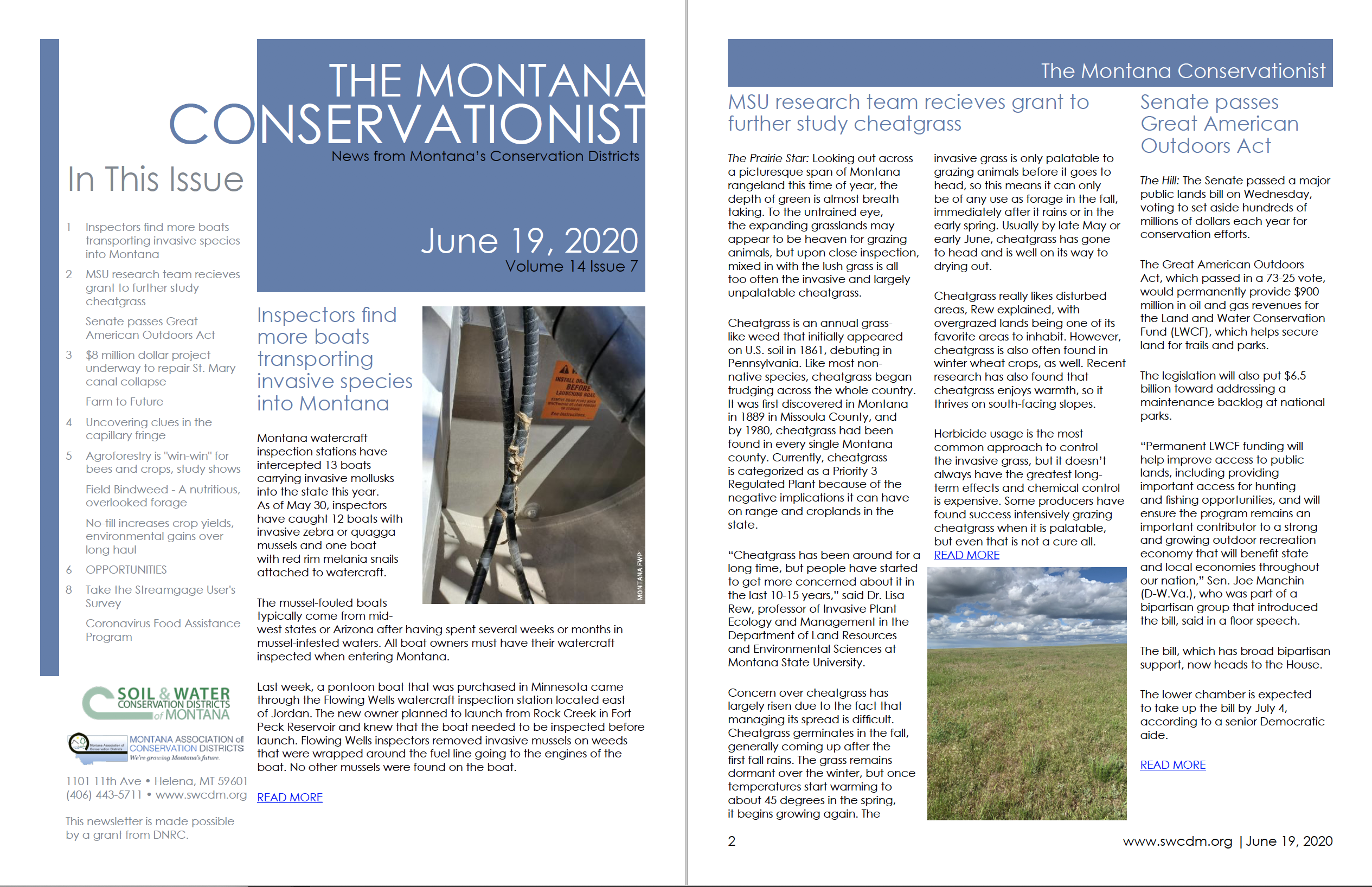 The Montana Conservationist, V14 I7